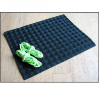"Our Standard sized Invisible Shoe Classic Kit with 9""x11"" Vibram Cherry rubber sheet"